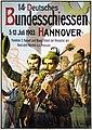 1903 Heinrich Mittag Plakat 14. Deutsches Bundesschiessen Hannover, Gebrüder Jänecke.jpg