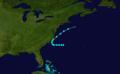 1908 Atlantic tropical storm 5 track.png