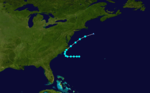 1908 Atlantic tropical storm 5 track.png