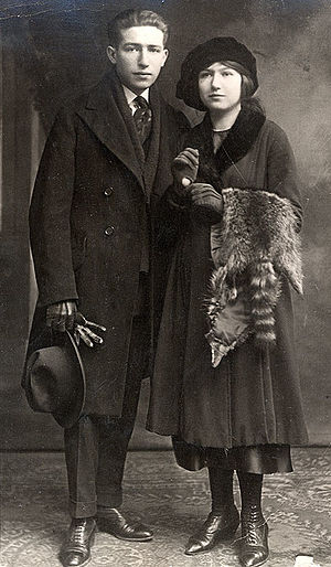 Janice Biala - Jack Tworkov and his younger sister, Janice Biala, in a photo taken ca. 1918. Their father made the clothing they wear in this photo.