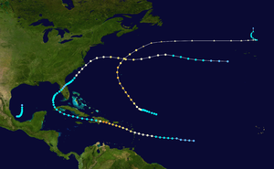 1930 Atlantic hurricane season - Image: 1930 Atlantic hurricane season summary map