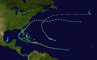 1930 Atlantic hurricane season - Image: 1930 Atlantic hurricane season summary map