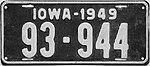 1949 Iowa passenger license plate.jpg