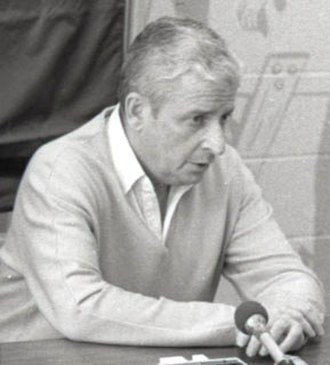 Art Modell - Modell at a press conference in 1983