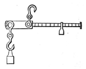 Steelyard balance - A 19th-century steelyard.