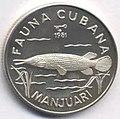 1 песо. Куба. 1981. Фауна Кубы - Гигантский сарган.jpg