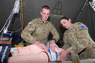Royal Australian Army Medical Corps - Two soldiers from the 1st Health Support Battalion during an exercise in 2007