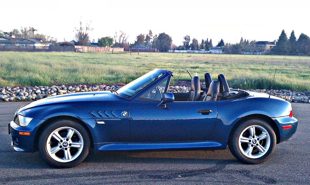 file 2001 bmw z3 sideview topdown topaz blue wikimedia commons. Black Bedroom Furniture Sets. Home Design Ideas
