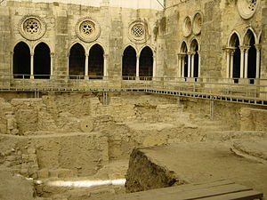 Lisbon - Phoenician archaeological dig in the Lisbon Cathedral cloisters
