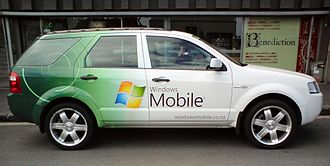 Windows Mobile - A Ford Territory with Windows Mobile advertising seen in Auckland, New Zealand, in 2008
