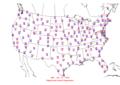 2006-07-19 Max-min Temperature Map NOAA.png