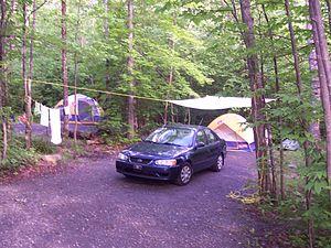 Mont-Orford National Park - Image: 2007 07 Parc du Mont Orford Camping Stukeley