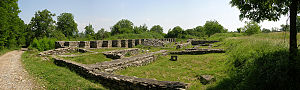 Ulpia Traiana Sarmizegetusa - Panoramic view of Domus Procuratoris