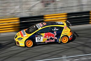 SEAT Sport - Yvan Muller driving for SEAT Sport in Macau in the 2008 WTCC season.