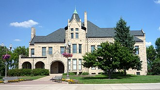 National Register of Historic Places listings in Dunn County, Wisconsin - Image: 2009 0620 Menomonie Tainter