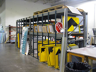 Maryland State Highway Administration - MDSHA sign shop