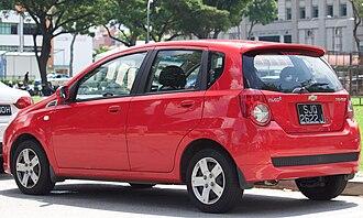 Chevrolet Aveo - Chevrolet Aveo 1.4 5-door (Singapore)