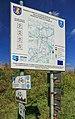 2012 Powiat pszczyński, Pawłowice, Mapa szlaków rowerowych (01).jpg
