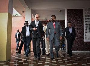 Nicholas Kay - Nicholas Kay with Somali president Hassan Sheikh Mohamud.