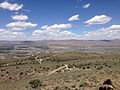 "2014-06-13 12 44 19 View north-northwest from a bluff northwest of the summit of ""E"" Mountain in the Elko Hills of Nevada.JPG"