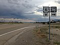 2014-07-18 19 11 09 View east along U.S. Route 6 about 13.9 miles east of the Nye County Line at the junction with Nevada State Route 318 in Lund Junction, Nevada.JPG