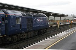 2014 Taunton track renewals - FGW 43186 at temporary stop light.JPG