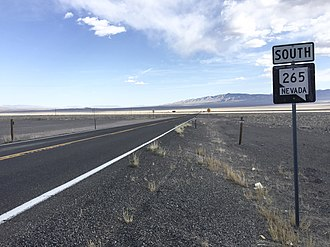 Nevada State Route 265 - View from the north end of SR 265 looking southbound