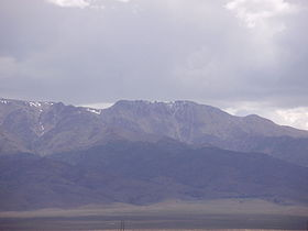 2015-05-04 12 00 03 View of Mount Jefferson, Nevada from the junction of Nevada State Route 376 and Round Mountain Road.JPG