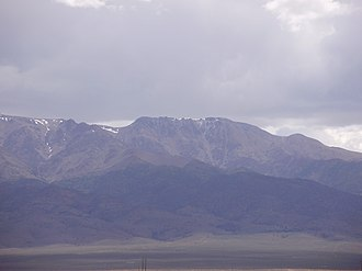 Mount Jefferson (Nevada) - View of the South Summit of Mt. Jefferson from SR 376 near Round Mountain