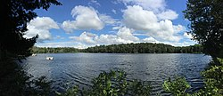 2015-08-20 15 55 43 Panorama east from the west shore of Spring Lake in Berlin, New York.jpg
