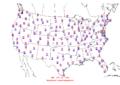 2015-10-24 Max-min Temperature Map NOAA.png