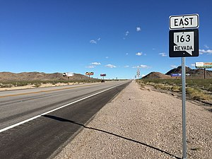 Nevada State Route 163 - View from the west end of SR 163 looking eastbound