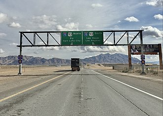 Las Vegas Beltway - View east at the northeastern end of CC 215 in North Las Vegas