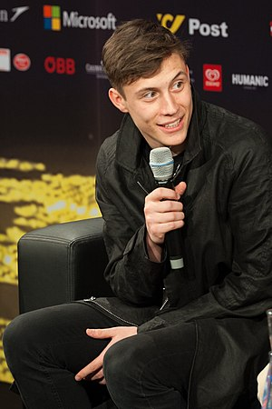 Belgium in the Eurovision Song Contest 2015 - Loïc Nottet during a press meet and greet