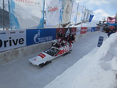 2015 Bobsleigh World Cup in St. Moritz - Canadian team.JPG