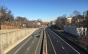 Interstate 66 - View east along I-66 in eastern Arlington