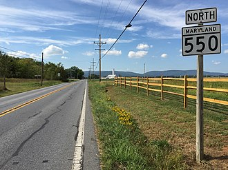 Maryland Route 550 - View north along MD 550 just north of Creagerstown