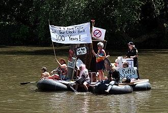Bathroom bill - Waterborne protest opposing HB-2