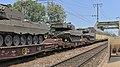 2017-06-03 AT Wien 02 Leopoldstadt & Wien 03 Landstraße & Wien 11 Simmering, Ostbahnbrücke, 4706 007-9+4706 009-5, Leopard 2A4 (?) 22039-L, Leopard 2A4 (?) 22120-L (50648746493).jpg
