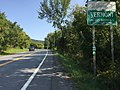 2017-09-10 15 33 34 View east at the east end of New York State Route 7 (Mapletown Road) and the west end of Vermont State Route 9 (West Road), entering Bennington, Bennington County, Vermont from Hoosick, Rensselaer County, New York.jpg