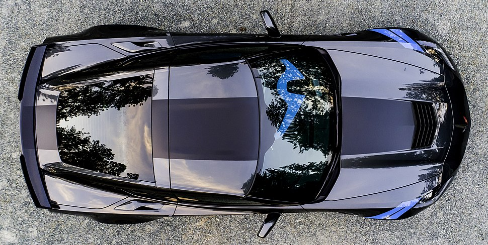 2017 Corvette Collector Edition Number 45 Aerial Top