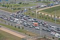 2020 Belarusian protests — closing the main street in Minsk 2.jpg