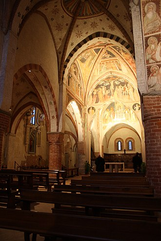 Viboldone Abbey - View of the interior.