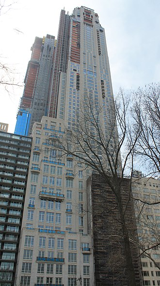 220 Central Park South - The building under construction in April 2018