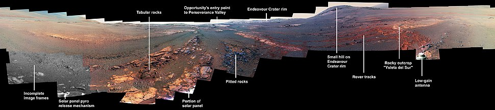 Final panorama image taken by Opportunity between May and June 2018 prior to being disabled by the dust storms.