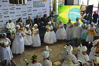 African diaspora - Afro-Brazilians celebrating at a ceremony held by the Ministry of Culture.
