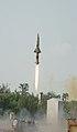 350 Km range Prithvi-II missile test-fired from Chandipur, Odisha on October 04, 2012.jpg