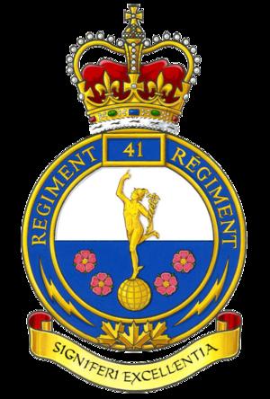 41 Signal Regiment - Badge of 41 Signal Regiment
