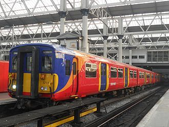 British Rail Class 455 - South West Trains Class 455/7 at London Waterloo