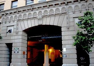 Westbeth Artists Community - A gate on West Street (2007)